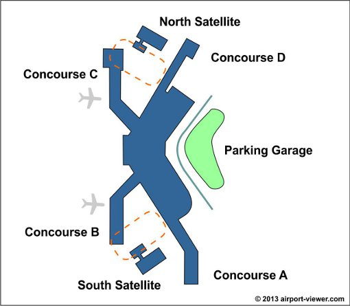 Seattle Map Airport.Seattle Tacoma Airport Location Parking And Terminal Information